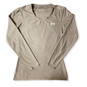 Under Armour heat gear fitted dri fit shirt gray M